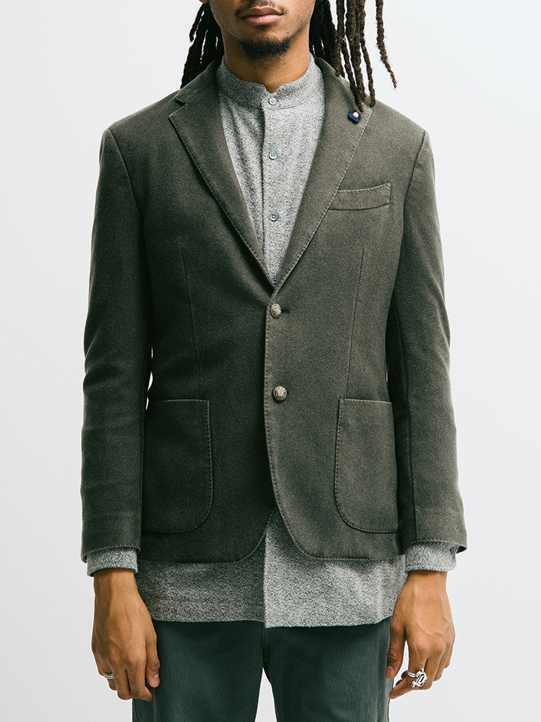 Lardini Deconstructed Garment Dyed Cashmere Jacket - GENTRY NYC - 5