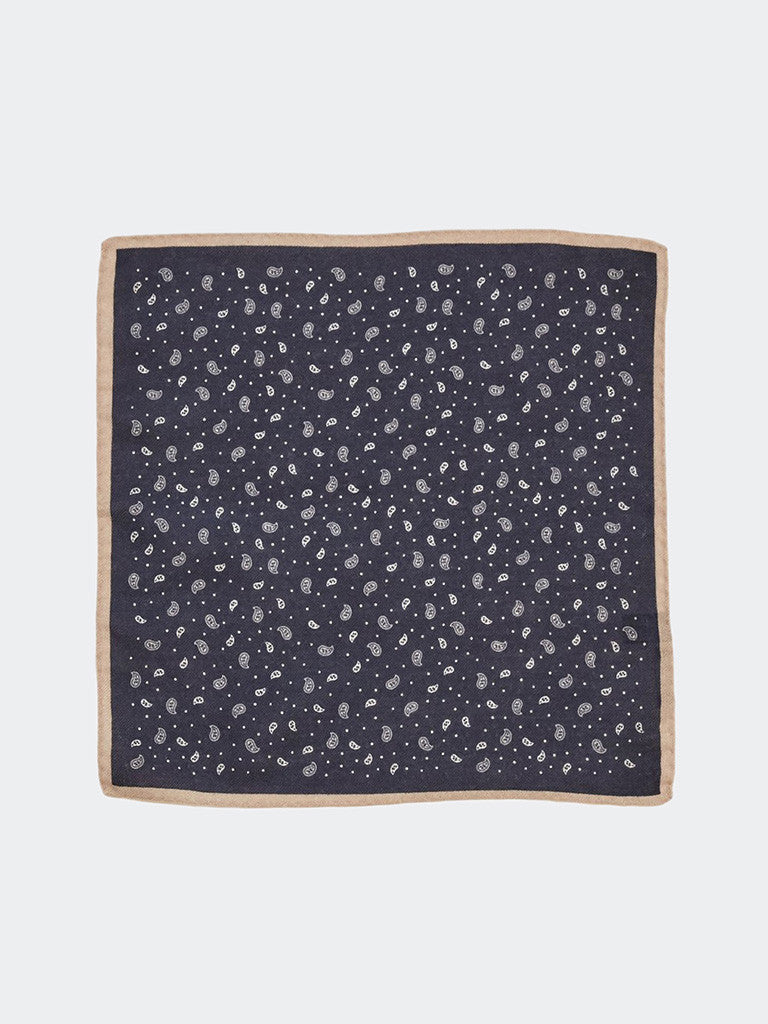Alex Mill Scattered Paisley Pocket Square - GENTRY NYC - 2