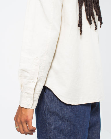 Cotton Linen Patch and Flap Shirt