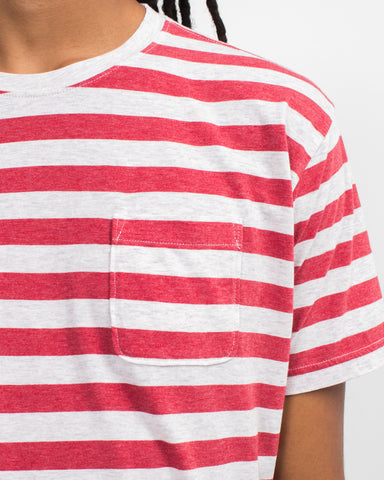 Heather Stripe Pocket Tee
