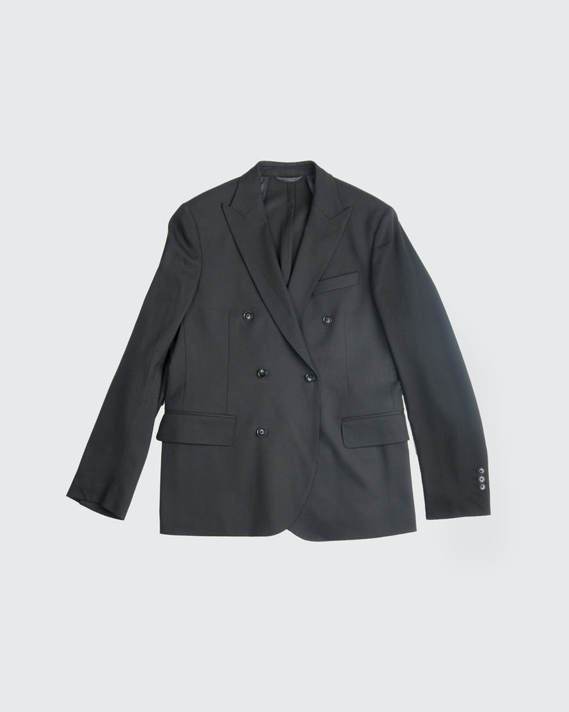 Double Breasted Stretch Hopsack Blazer