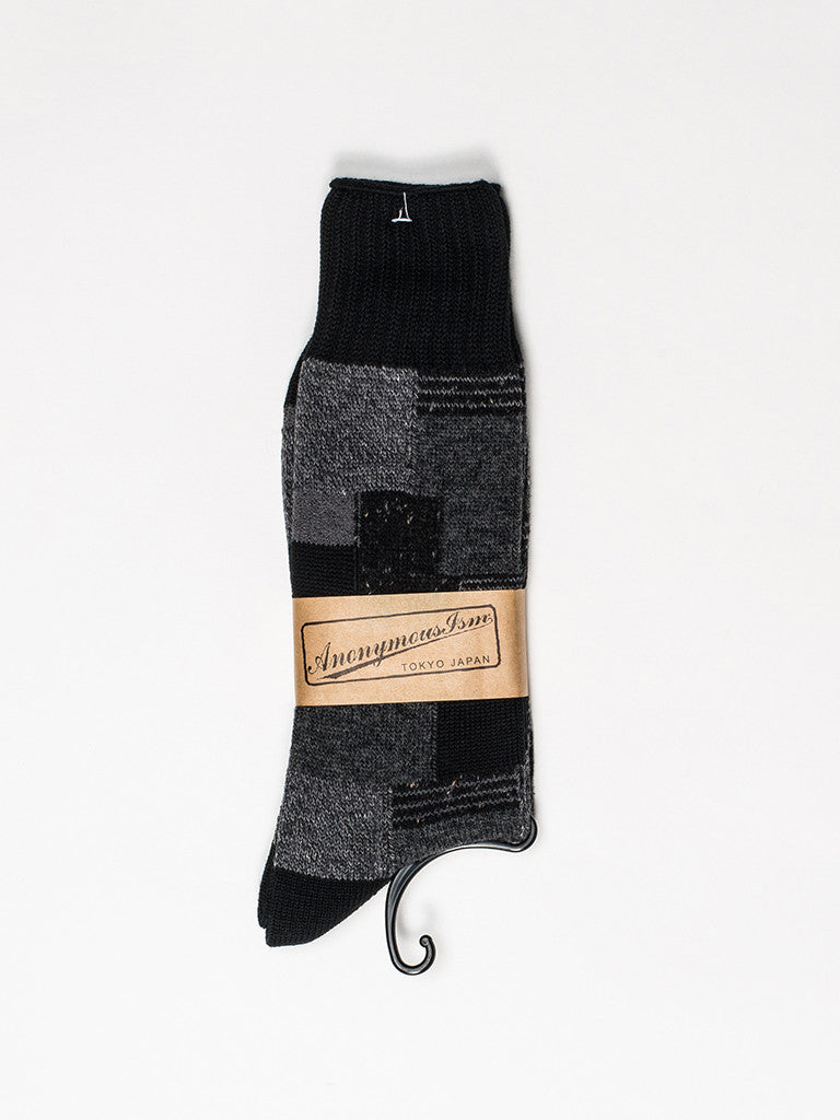 Anonymousism Patchwork Crew Sock - GENTRY NYC - 2