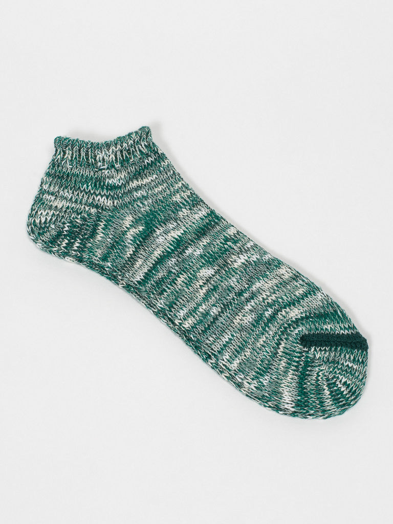 Anonymousism RAGG ANKLE SOCKS - GREEN - GENTRY NYC - 1