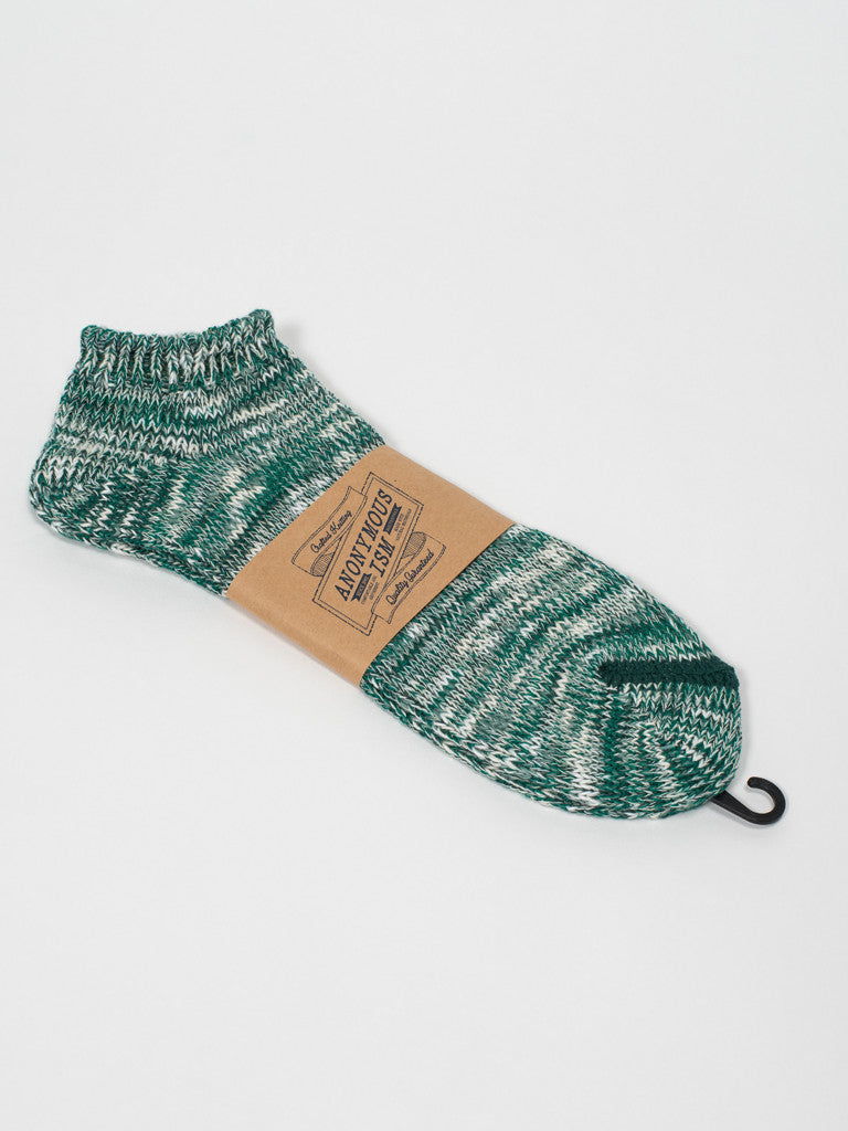 Anonymousism RAGG ANKLE SOCKS - GREEN - GENTRY NYC - 2