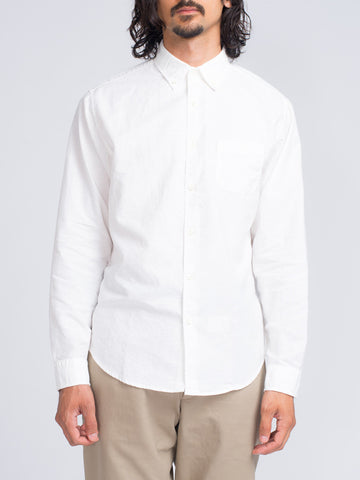 Alex Mill SLUB OXFORD SPORT SHIRT - WHITE - GENTRY NYC - 1