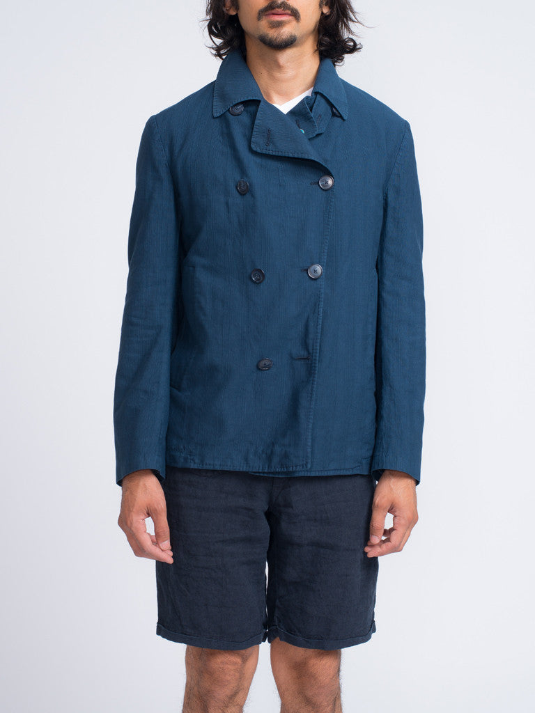 Eidos SHANTUNG DOUBLE BREASTED PEACOAT - GENTRY NYC - 8
