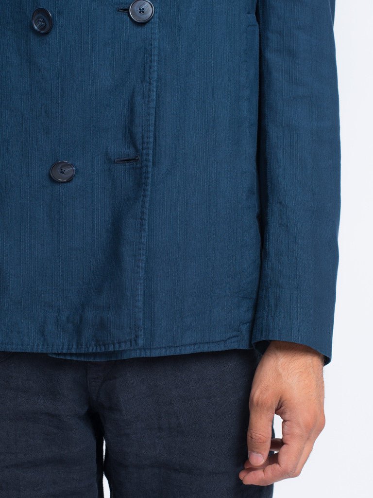Eidos SHANTUNG DOUBLE BREASTED PEACOAT - GENTRY NYC - 5