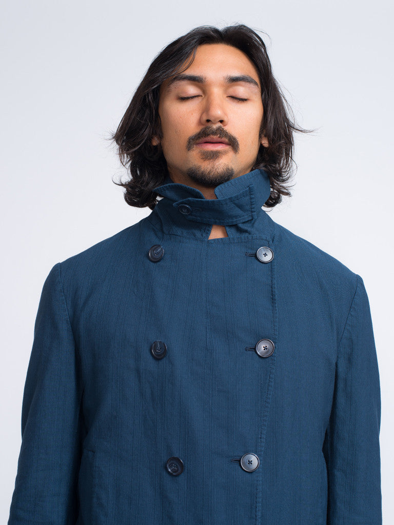 Eidos SHANTUNG DOUBLE BREASTED PEACOAT - GENTRY NYC - 4