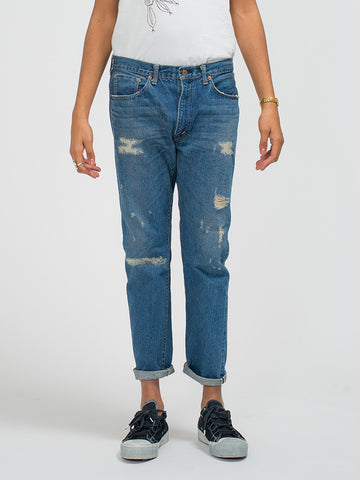Orslow 107 SLIM JEANS - DAMAGED BLUE - GENTRY NYC - 1