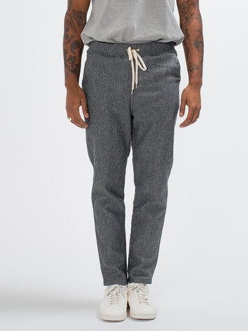 Orslow DRAWSTRING GYM PANTS - HEATHER GREY - GENTRY NYC - 1