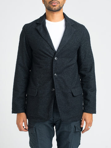 Our Legacy TUFTED WOOL ARCHIVE BLAZER III - BLACK - GENTRY NYC - 1