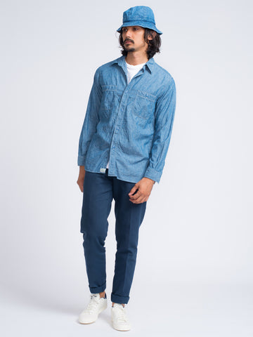 Orslow Chambray Work Shirt - GENTRY NYC - 1