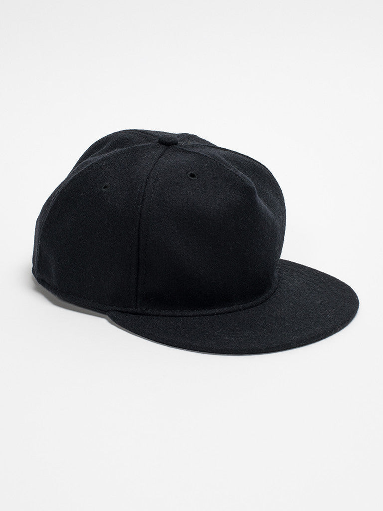 paa FITTED PLEAT CAP - BLACK - GENTRY NYC - 1