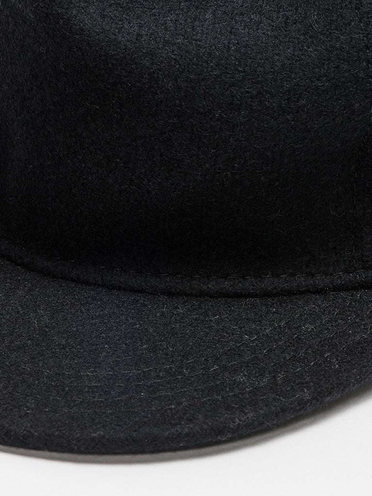 paa FITTED PLEAT CAP - BLACK - GENTRY NYC - 2