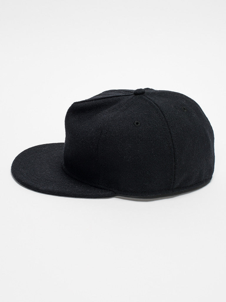 paa FITTED PLEAT CAP - BLACK - GENTRY NYC - 5