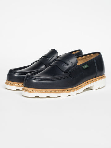 Paraboot REIMS PENNY LOAFER - NAVY - GENTRY NYC - 1