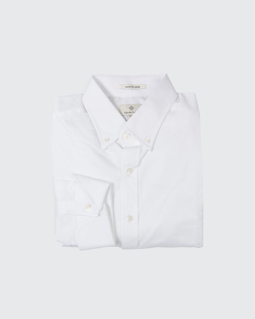 Pin-Dot Dobby Fitted Buttondown