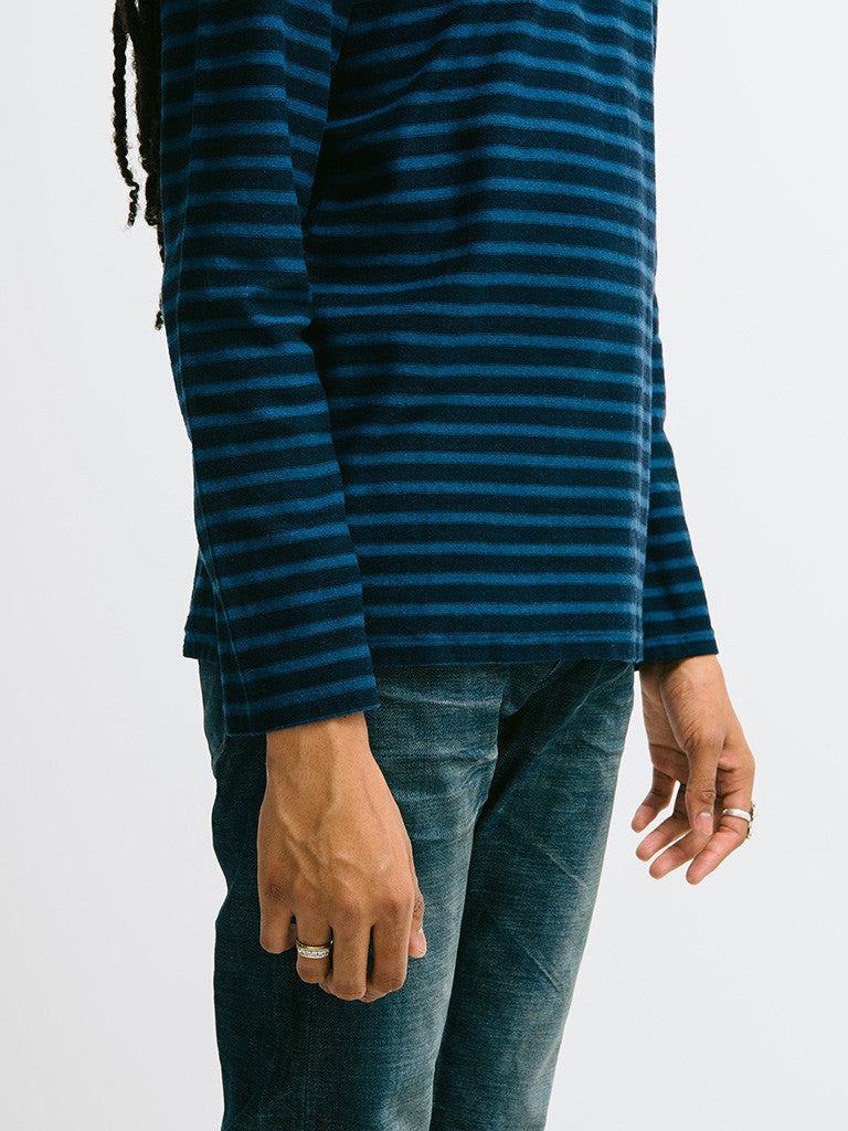 Eidos Breton Stripe Long Sleeve Tee - GENTRY NYC - 5