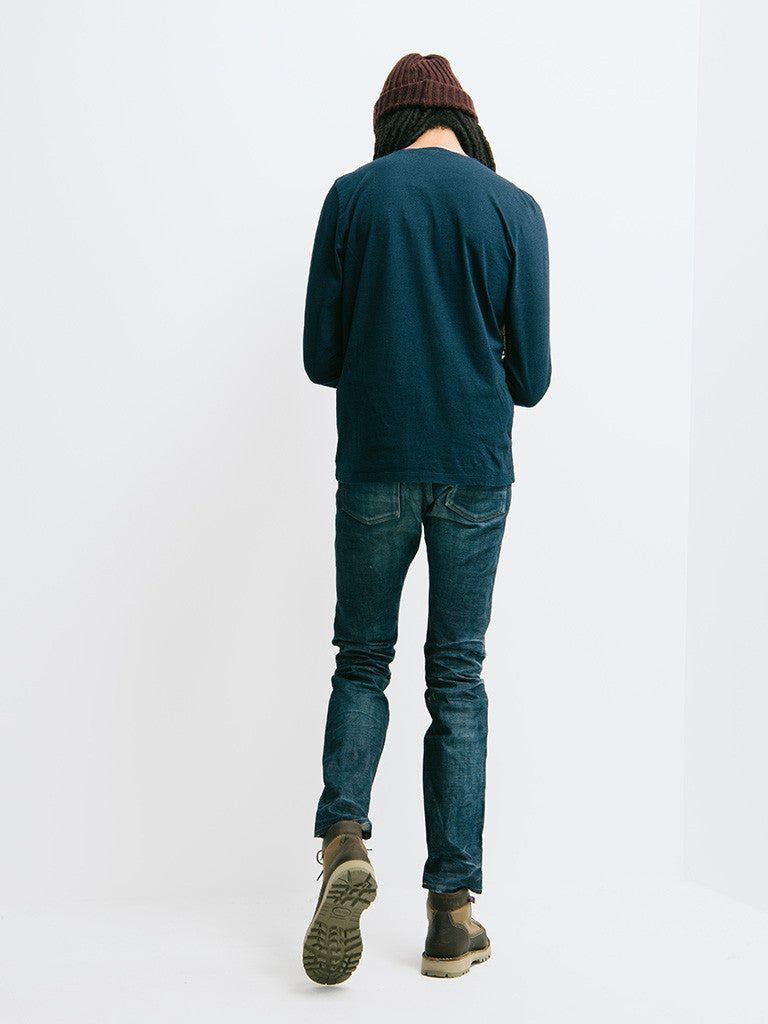 Eidos Corto Garment Dyed Long Sleeve Henley - GENTRY NYC - 6
