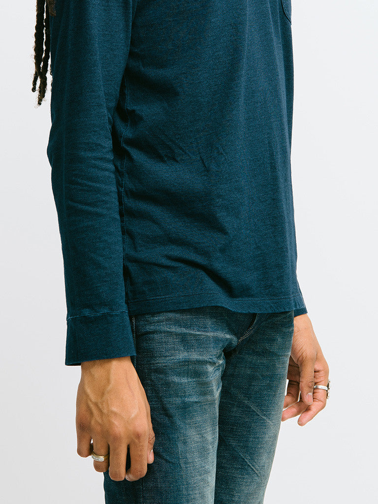 Eidos Corto Garment Dyed Long Sleeve Henley - GENTRY NYC - 4