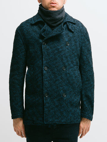 Eidos Wool Boucle Pea Coat - GENTRY NYC - 5
