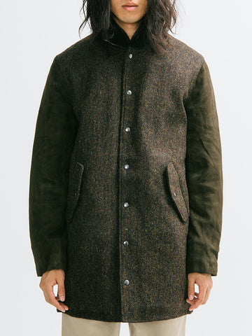 Golden Bear Harris Tweed Long Varsity Jacket - GENTRY NYC - 1
