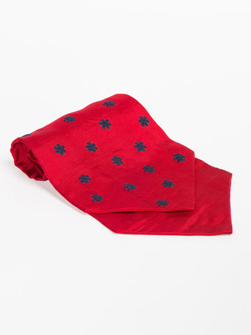 Jupe by Jackie SCARF TIE - BRENHAM NAVY ON RED - GENTRY NYC - 1