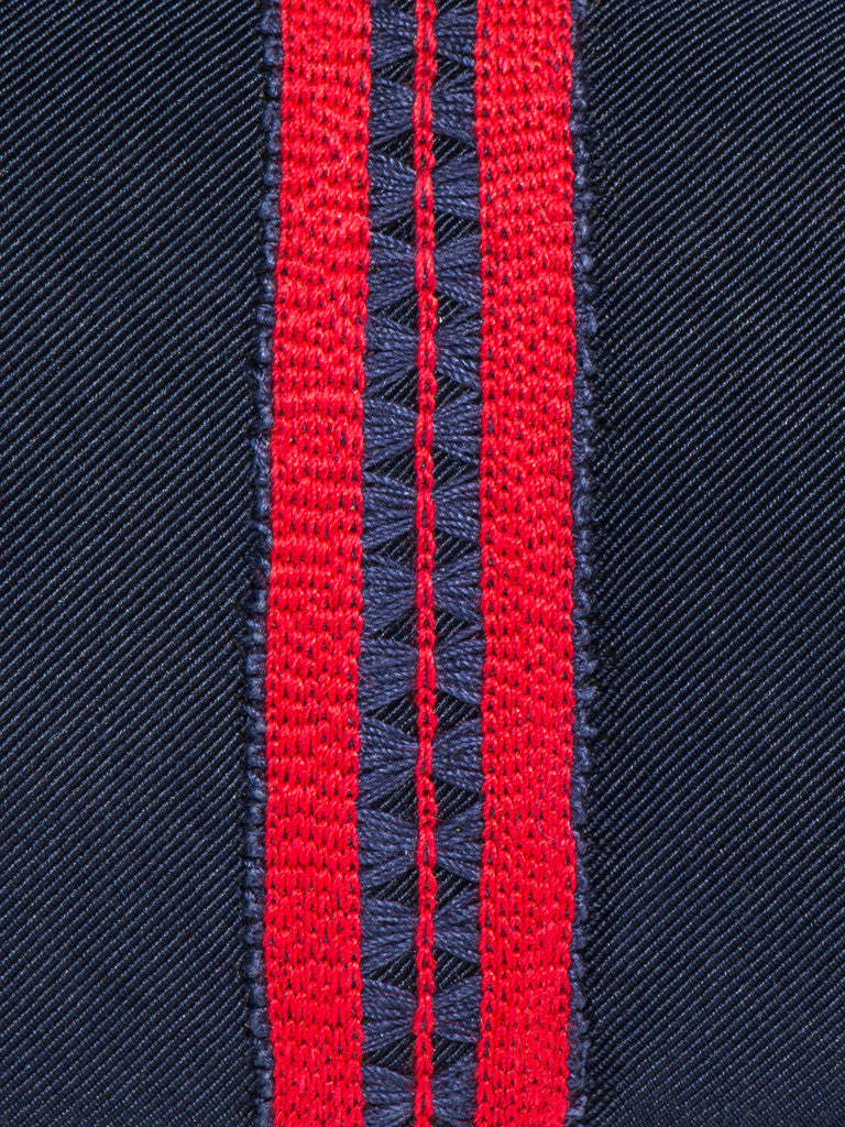Jupe by Jackie TIE - SHERWOOD BORDER RED ON NAVY - GENTRY NYC - 3