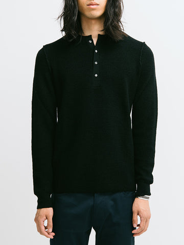 Ovadia & Sons Zack Waffle Knit Henley - GENTRY NYC - 1