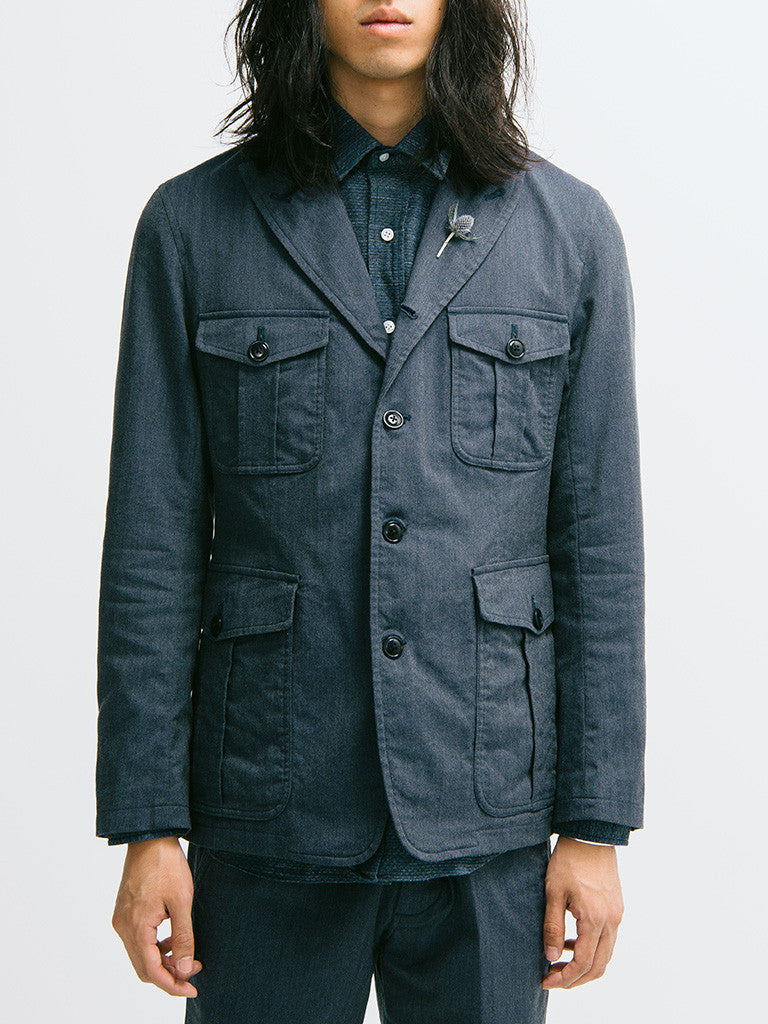 ts(s) Four-Button Rolled Lapel Military Jacket - GENTRY NYC - 6