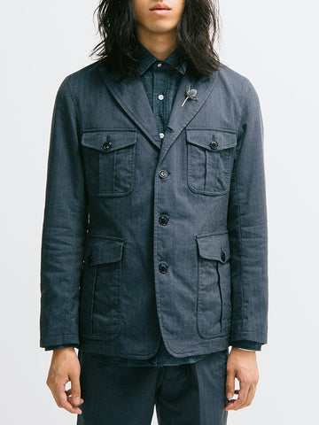 ts(s) Four-Button Rolled Lapel Military Jacket - GENTRY NYC - 1