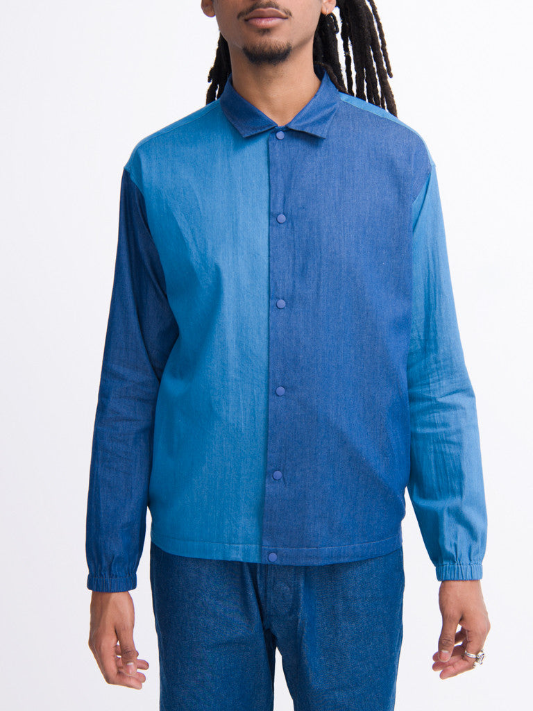Indigo Chambray Shirt Jacket