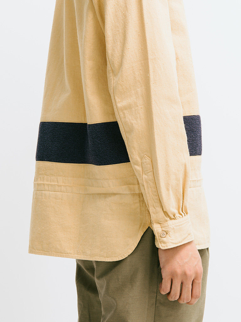 visvim Long Rider Knit Border Overdyed Shirt - GENTRY NYC - 4