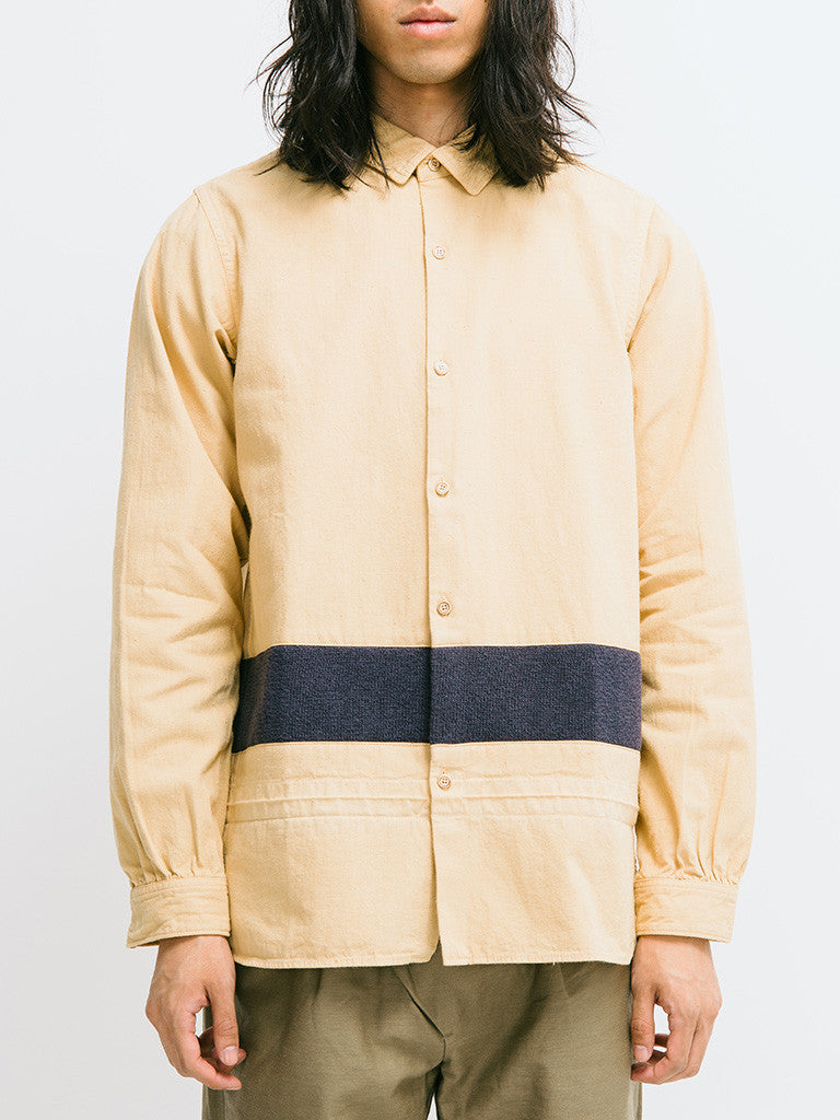 visvim Long Rider Knit Border Overdyed Shirt - GENTRY NYC - 6