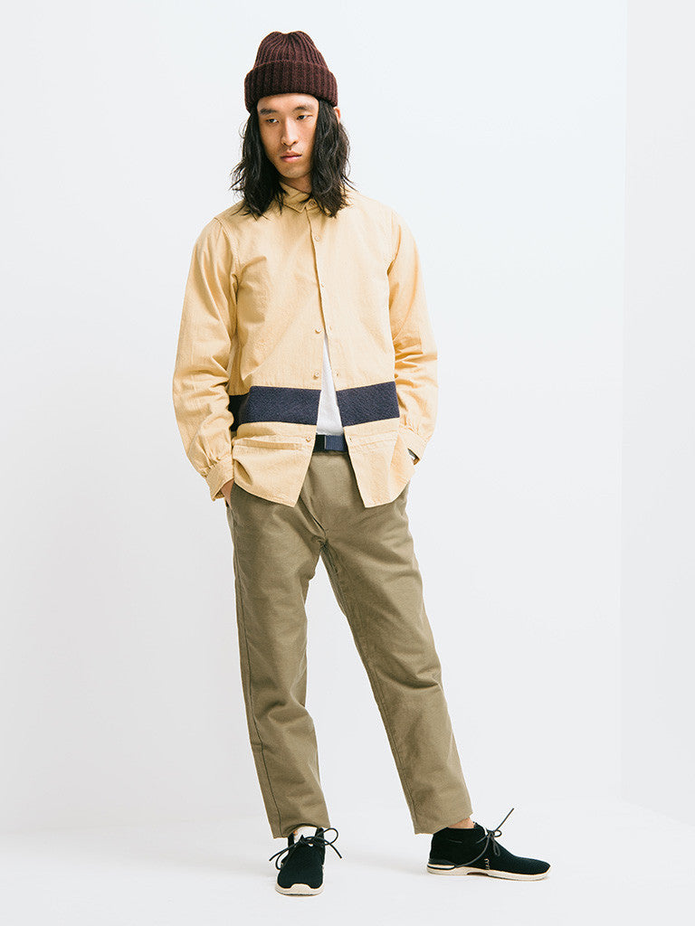 visvim Long Rider Knit Border Overdyed Shirt - GENTRY NYC - 1