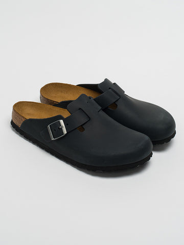 Birkenstock BOSTON-BLACK OILED LEATHER - GENTRY NYC - 1