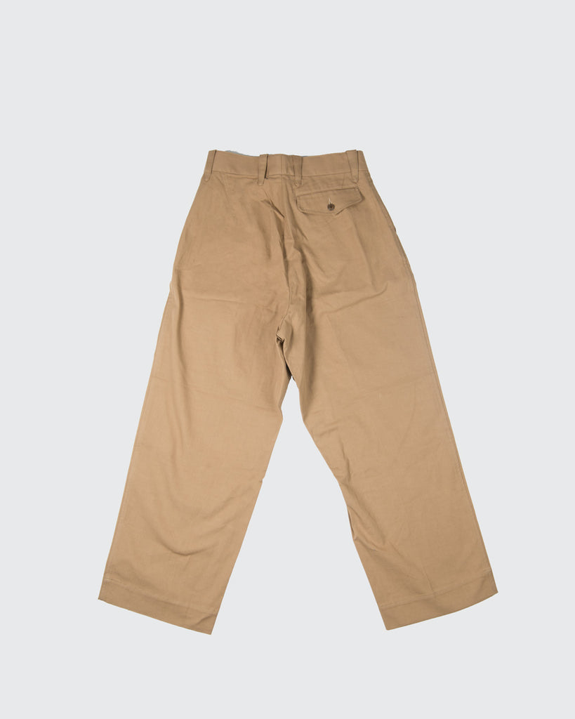 Pleated Military Chinos