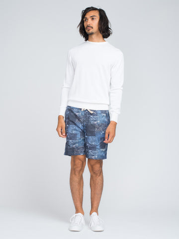 EASTLOGUE GEOMETRY SHORTS - BLUE - GENTRY NYC - 1