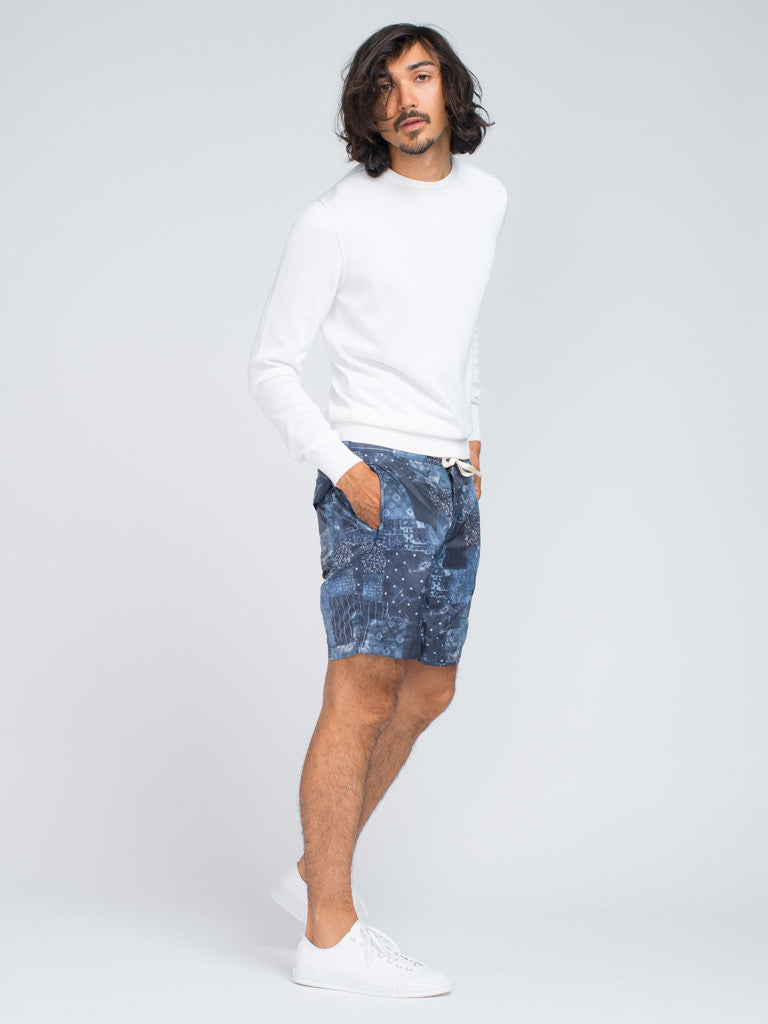 EASTLOGUE GEOMETRY SHORTS - BLUE - GENTRY NYC - 2