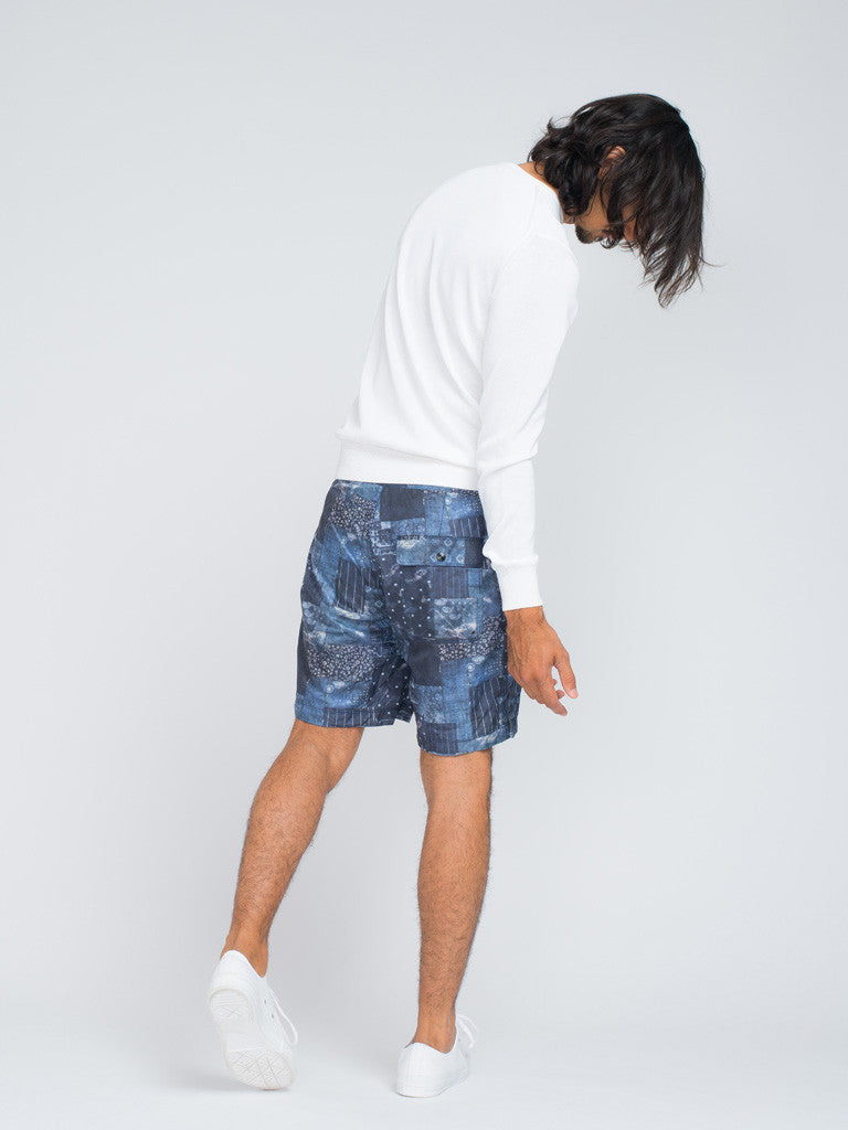 EASTLOGUE GEOMETRY SHORTS - BLUE - GENTRY NYC - 3