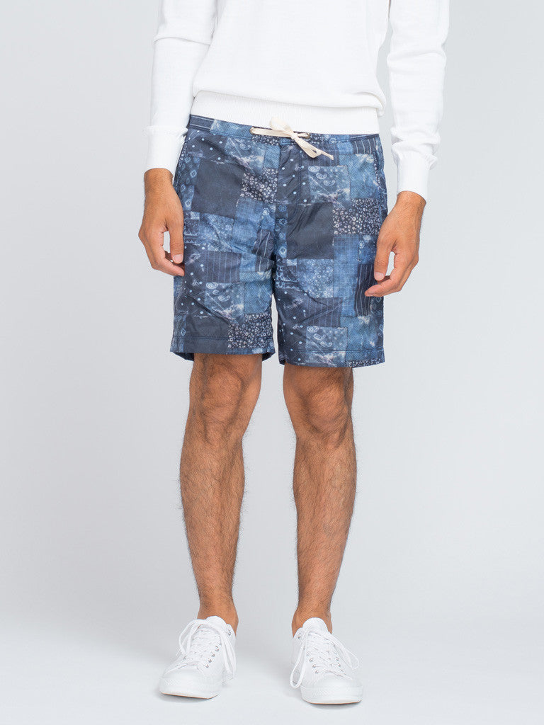 EASTLOGUE GEOMETRY SHORTS - BLUE - GENTRY NYC - 4