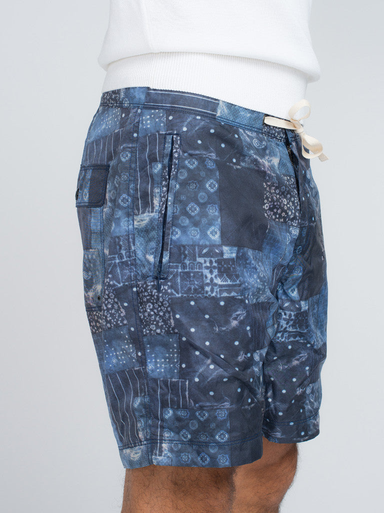 EASTLOGUE GEOMETRY SHORTS - BLUE - GENTRY NYC - 5