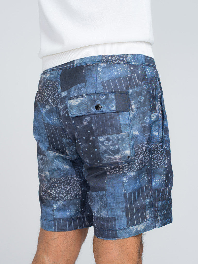 EASTLOGUE GEOMETRY SHORTS - BLUE - GENTRY NYC - 6