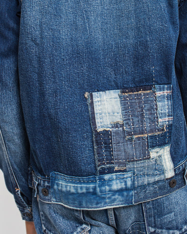 Handmade Patchwork Denim Jacket