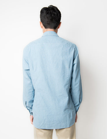 Chambray Short Spread Cotton Shirt