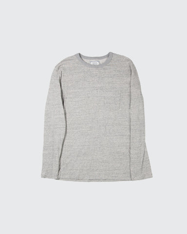Pocket Tee Long-Sleeve Japanese Jersey-Mid Grey Heather