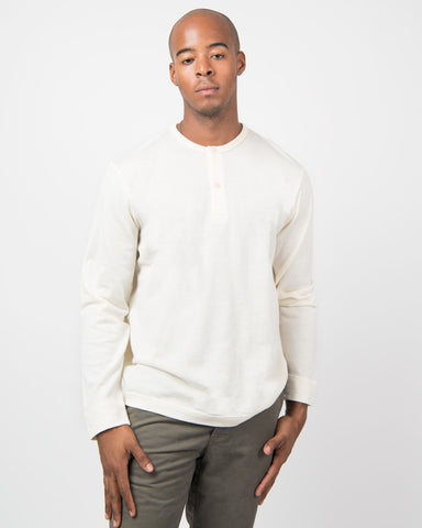 Henley Jumper - Archive White