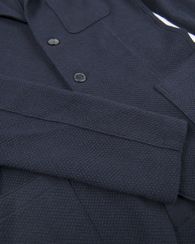 375 Jacket Two Patch Pocket Loro Piana Flannel-Navy