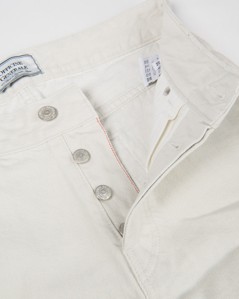 5 Pocket Japanese Selvedge Denim-Stone