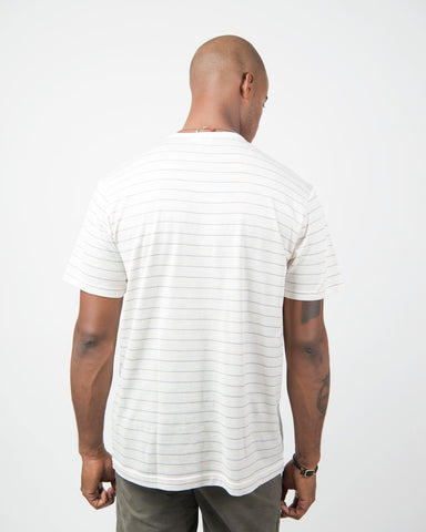Short Sleeve Crew Neck - Archive White/Charcoal Melange/Grey Dawn